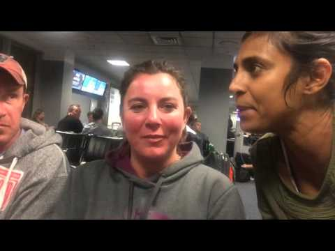 kasthuri- engaging random family at Dulles airport