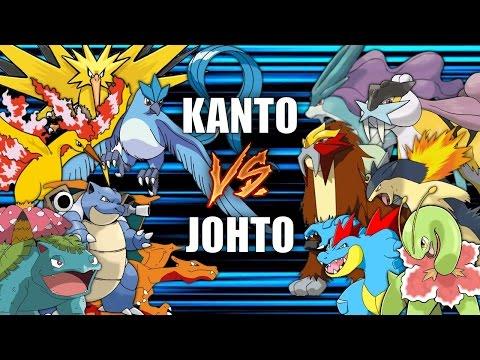 Battle of the Regions KANTO vs JOHTO Pokemon Battle Revolution 1080p 60fps