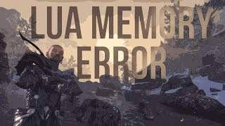 How  can you fix LUA MEMORY ERRORS in the Elder Scrolls Online (ESO)