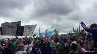 Northern Ireland Fanzone (Will Griggs on fire)