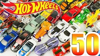 Hot Wheels Pack de 50 Voitures Diecast Toy Unboxing Jouet Juguetes Cars for Kids Carros Hotwheels