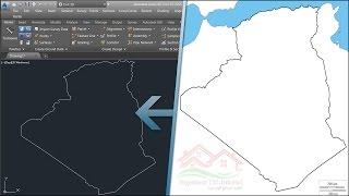 طريقة الحصول على خريطة قارتك، دولتك, ولايتك, مقاطعتك... بصيغة Autocad