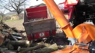 štěpkování dřeva se Zetor 5011