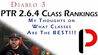 Diablo 3 - Post PRT 2.6.4 Class Rankings - What's Juice, What's Weak.