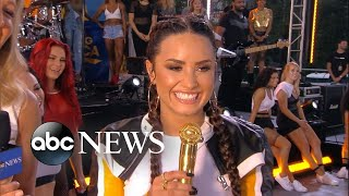 Catching up with Demi Lovato live on