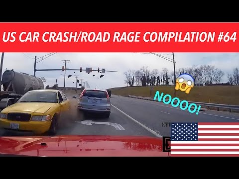 watch 🇺🇸 [US ONLY] US CAR CRASH/ROAD RAGE COMPILATION #64 [40K Subs Edition]
