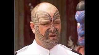The New Zealand Navy Welcomes its first Sailor with a native Maori facial tattoo