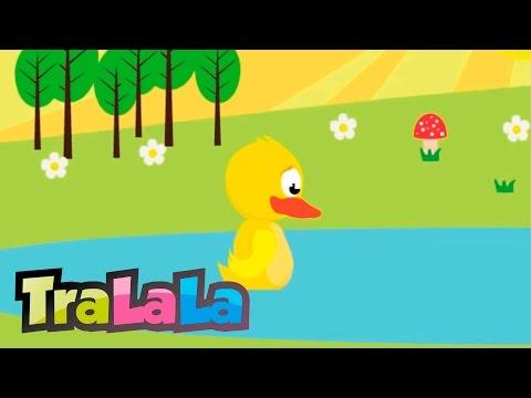 O rățușcă stă pe lac (cu versuri) - Cântece pentru copii   TraLaLa