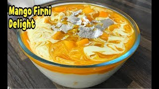 Unique Mango Firni Delight /Easy Mango Dessert Recipe / mango kheer By Yasmin's Cooking