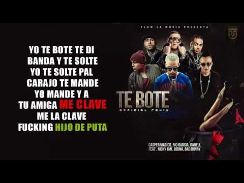 Xxx Mp4 Te Bote Remix LETRA Ozuna Ft Bad Bunny Casper Nio García Darell Y Nicky Jam 3gp Sex