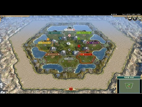 Civ 5 AI Only Timelapse: Battle for Oasis