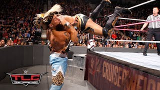 Kalisto flies head-first into Enzo Amore with a jaw-dropping dive through the ropes: WWE TLC 2017