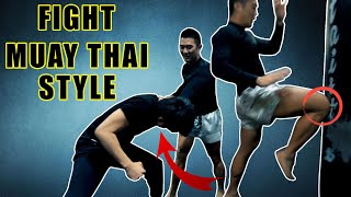 How to fight muay thai style   chest grab