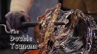 Making the Double Medium Tsunami - A glass wave sculpture by David Wight