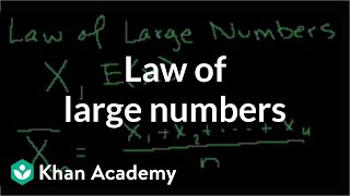 Law of large numbers | Probability and Statistics | Khan Academy