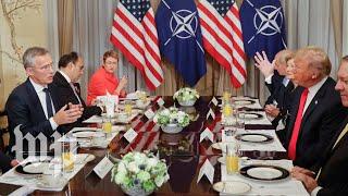 Trump and Stoltenberg get into tense exchange at NATO summit