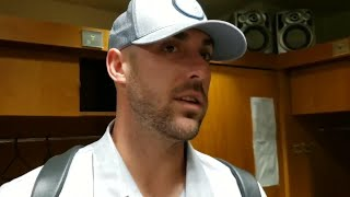 Brewers infielder Travis Shaw talks about hitting  against the Astros