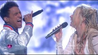Jon Henrik Fjällgren Ft. Aninia - En värld full av strider - Melodifestivalen 2017 with Subtitles