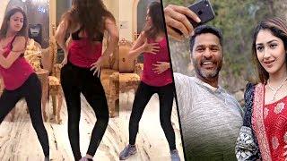 Prabhu Deva & Sayesha Saigal dance practice for 'DAMN DAMN' song   Vanamagan Heroine Hot News
