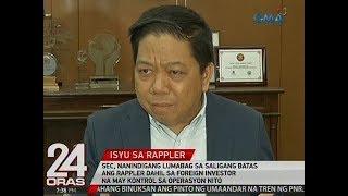 24 Oras: SEC, nanindigang lumabag sa Saligang Batas ang Rappler