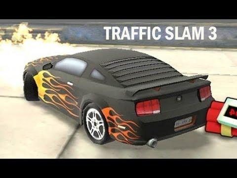Juego de Autos 11 Un Auto en Llamas en Traffic Slam 3