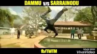 Sarainodu Trailer Vs NTR Dhammu Movie Comparison