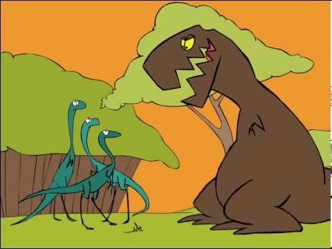 T Rex cartoon - dinosaur animation