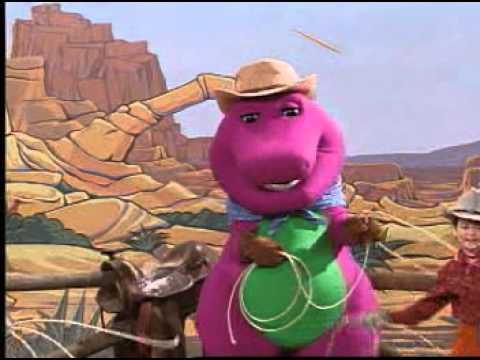 Barney Adventure Bus Git Along Little Dogies Song