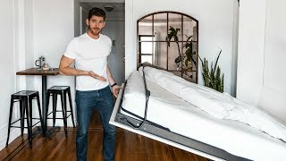 Tiny NYC Apartment Tour!! SPACE SAVING TIPS for Studio Apartments
