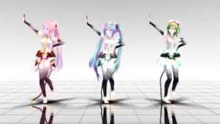 【MMD】 Hi-Fi Raver (Miku★Luka★Gumi)