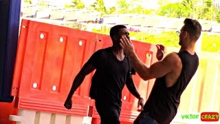 WHERE IS NIGA ?? GONE WRONG PRANK IN MALAYSIA GUN AND KNIFE PULLED !!!