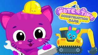 Fun Pet Animals Construction Cars  - Trucks, Diggers, Vehicles & Cars Educational Kids Apps