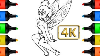 How to Draw Tinker Bell Coloring Pages Fairy Learn Colors for Kids Color and Drawing Video for Kid