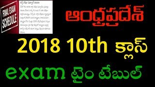 AP 10TH CLASS 2018 EXAM TIME TABLE AND EXAM DATES || TECHREVIEWINGS
