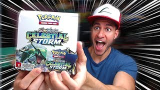 OPENING ENTIRE BOOSTER BOX OF THE NEW POKEMON CARDS SET! - Celestial Storm