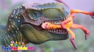 Dinosaurios para niños 🐊Aventuras de Dinosaurios de Juguetes #1 🐊La vida del Tyrannosaurus Rex