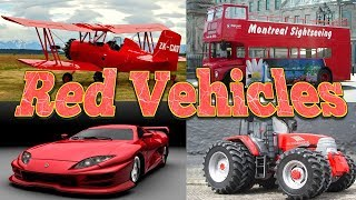 Learning Red Color with Vehicles for Kids | Vehicles for Children | Kids Learning | Cars Cartoon