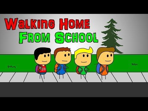 Brewstew Walking Home From School