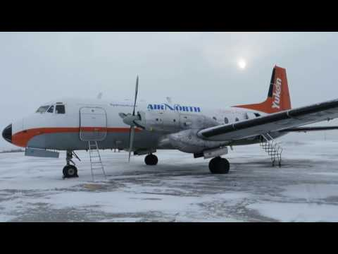 Air North H.S.748 Flight from Inuvik to Dawson City