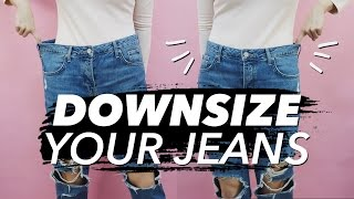 How to Downsize Jeans (Resize Waist & Legs!)   WITHWENDY