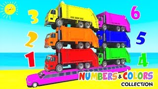 Learn COLORS w Garbage Truck Learn NUMBERS in Spiderman Cartoon for Kids Nursery Rhymes for children