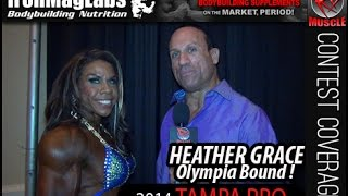 Heather Grace After Winning Pro Women's Physique At The 2014 Tampa Pro