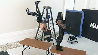 Roman Reigns vs. AJ Styles - Extreme Rules Match: WWE Action Figure Stop Motion