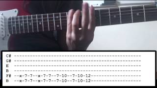 Disturbed - The Vengeful One - Guitar Lesson