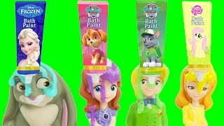 Learn Colors Play Doh Pop Ups Candy Surprise Toys & Eggs Body Paint Pez Finger Family Nursery Rhymes