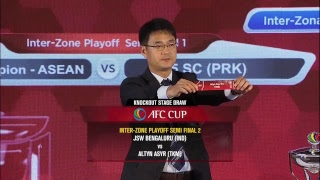 AFC Cup 2018 Knockout Stage Official Draw