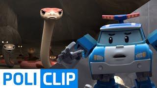 Whoops. a snake! | Robocar Poli Clips