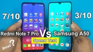 Redmi Note 7 Pro vs Samsung A50 Speed Test Comparison || Antutu Benchmark Scores/Rs14000 vs Rs20000