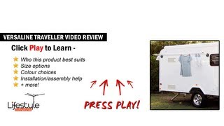 Versaline Traveller Compact Clothesline - Ideal for Caravan, Campers and Mobile Homes