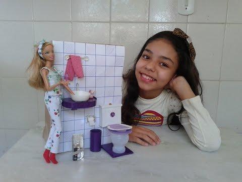 Como fazer banheiro para casa da barbie